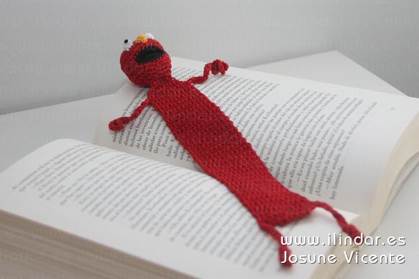 Marcapáginas Elmo en crochet