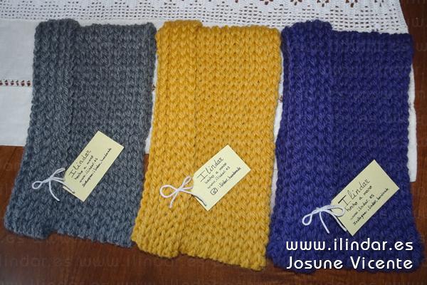 Cuellos bufanda en lana merina