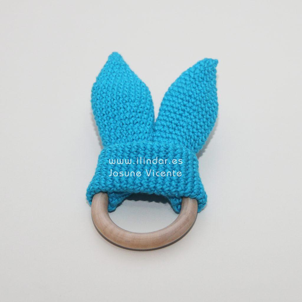 mordedor Orejas Conejo crochet