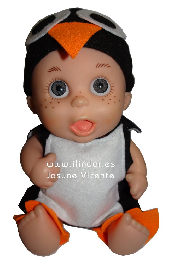 Baby Pelon disfraz de pinguino